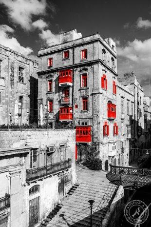 Rote Balkone von Stephan Strange
