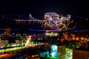 Gdynia bei Nacht von Daborius