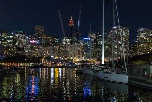 Nachts am Hafen von clickfux