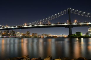 NYC - Manhattan Bridge von Jürgen Merkel