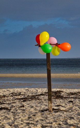Farbtupfer am Strand von Dirk E.