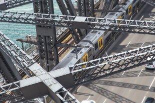 Harbour Bridge vom Turm aus gesehen von clickfux
