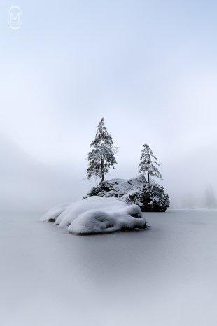 Hintersee im Winter - DifferentView 1 von Marlene Kupfer