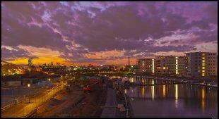 Sonnenuntergang in Offenbach von Rontrus