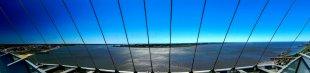 Panoramablick über die Weser bei Bremerhaven von V0SSI