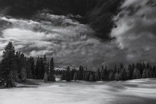 immer noch Schnee in den Alpen von Uschi Hermann