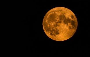 Roter Mond am 23.07.2021 von Carl-Peter Herbolzheimer