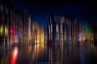 Amsterdam bei Nacht von Radonart