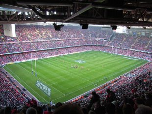 Cardiff Stadium Rugby Nations Cup Wales vs. Scotland von ingist