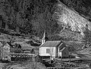 der letzte Schnee in Norwegen im Sognefjord von Jürgen Guhlke
