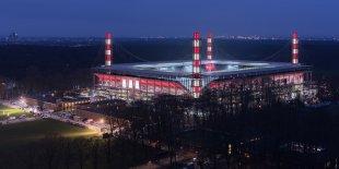RheinEnergieStadion - 1. FC Köln – Rheinisches Derby 2018 I Pano von Dieter Golland