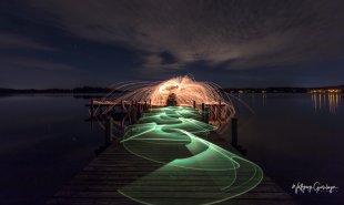 Wenn es Dunkel wird am See von Groessi
