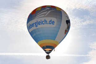 Heißluftballon im Gegenlicht von der_Robo