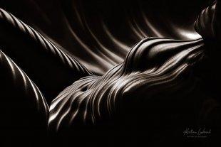Licht - Linien - Leidenschaft (Aktshooting Zebra Nude Art) von Kristian Liebrand