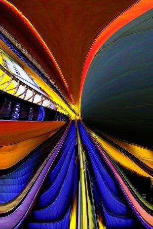 Rolltreppe 2 von Addi Beck
