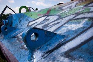 Panzer mit Graffiti von Himme