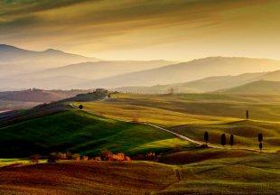 Val d'Orcia mit den Gladiatoren - Toskana von Helmut Plamper