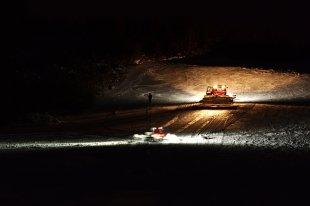 Nachtarbeit im Schnee von wituweb