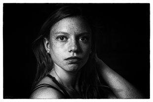 Portrait in schwarz-weiß von WMW-Foto