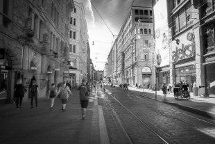 Kopenhagen. Einkaufsstrasse von BurKau