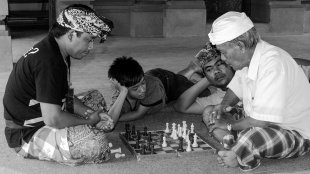Schachspieler auf Bali von snuecke