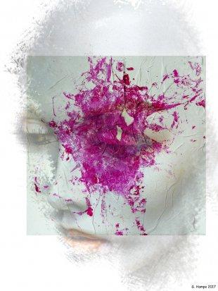The woman with the pink splash von Gabi Hampe