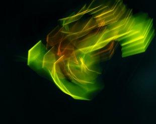 green spider from outer space von baumfrosch