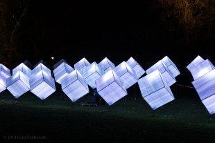 Farbige Würfel beim Lichterfest in Mannheim 02/2018 von Mario68