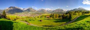 Panorama Oberstdorfer Alpen von Fotoblogger