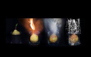 Erde - Feuer - Luft - Wasser von Foto-Ceha