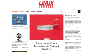 Screenshot des Linux Journals