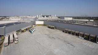 Ladehof im Opelwerk