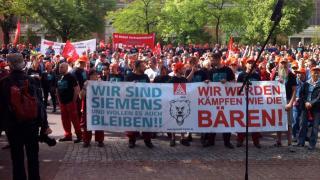 Protest Siemens-Mitarbeiter