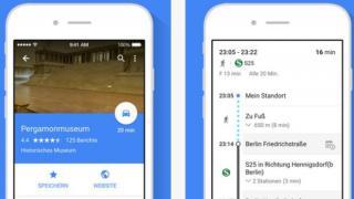 Größeres Update für Google-Maps-App