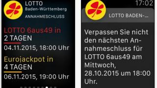 Lotto auf der Apple Watch