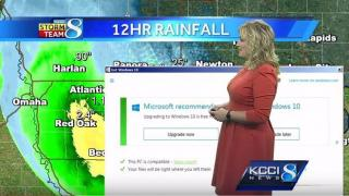 Windows-10-Upgrade-Meldungkommt beim Wetterbericht reingeschneit