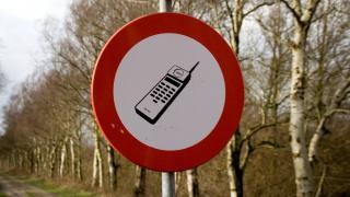 Verbotsschild mit Handy