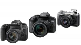 Drei neue Systemkameras von Canon: 77D, 800D, M6