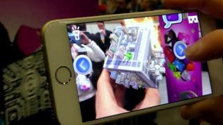 AR-Würfel Merge HoloCube im Hands-on