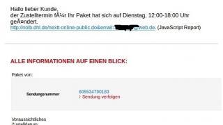 Vorsicht: Gefälschte DHL-Mails im Umlauf