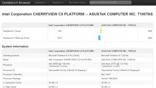Intel Atom x7-8700 im Geekbench 3