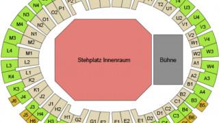 Plan der Münchner Olympiahalle