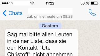 """""""Ute Christoff"""": WhatsApp-Kettenbrief zum Festplatten-Zerstörer macht wieder die Runde"""