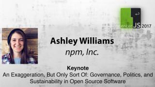 Livestream: Node.js Individual Membership Director Ashley Williams über die politische Seite von Open Source