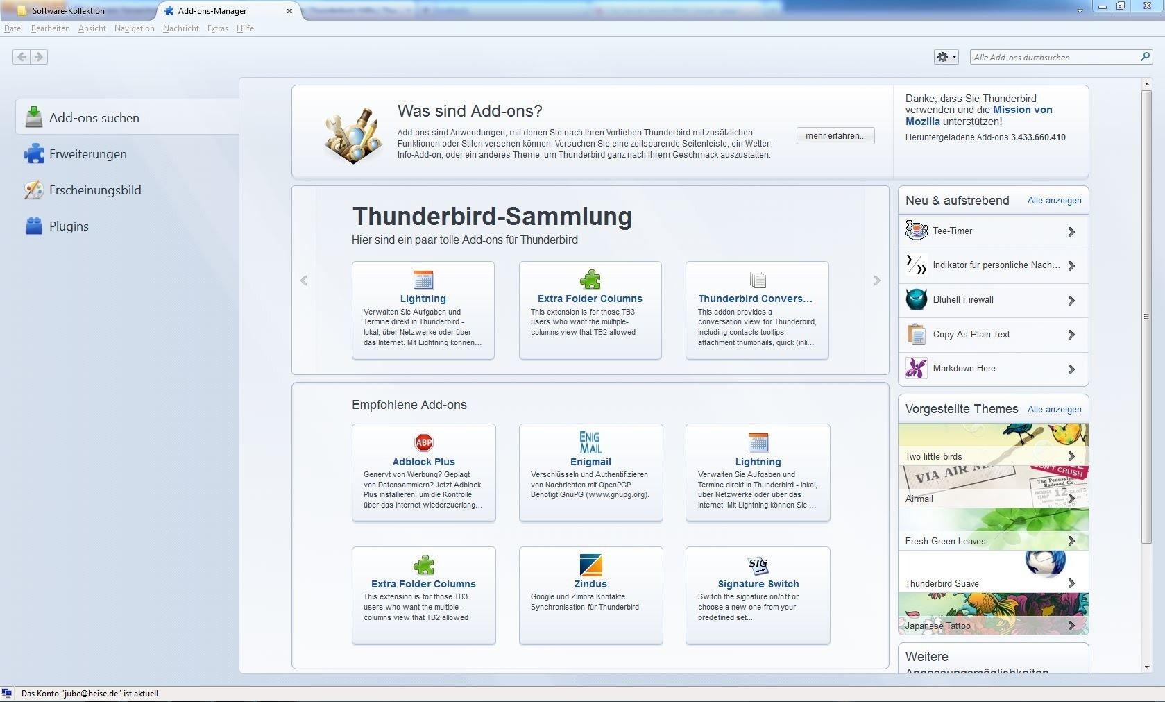 Thunderbird Email Weiterleiten
