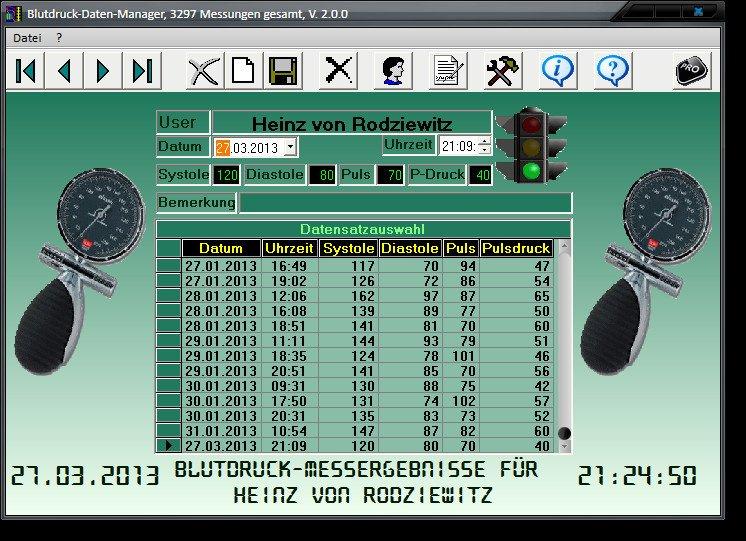 Blutdruck-Daten-Manager - heise Download