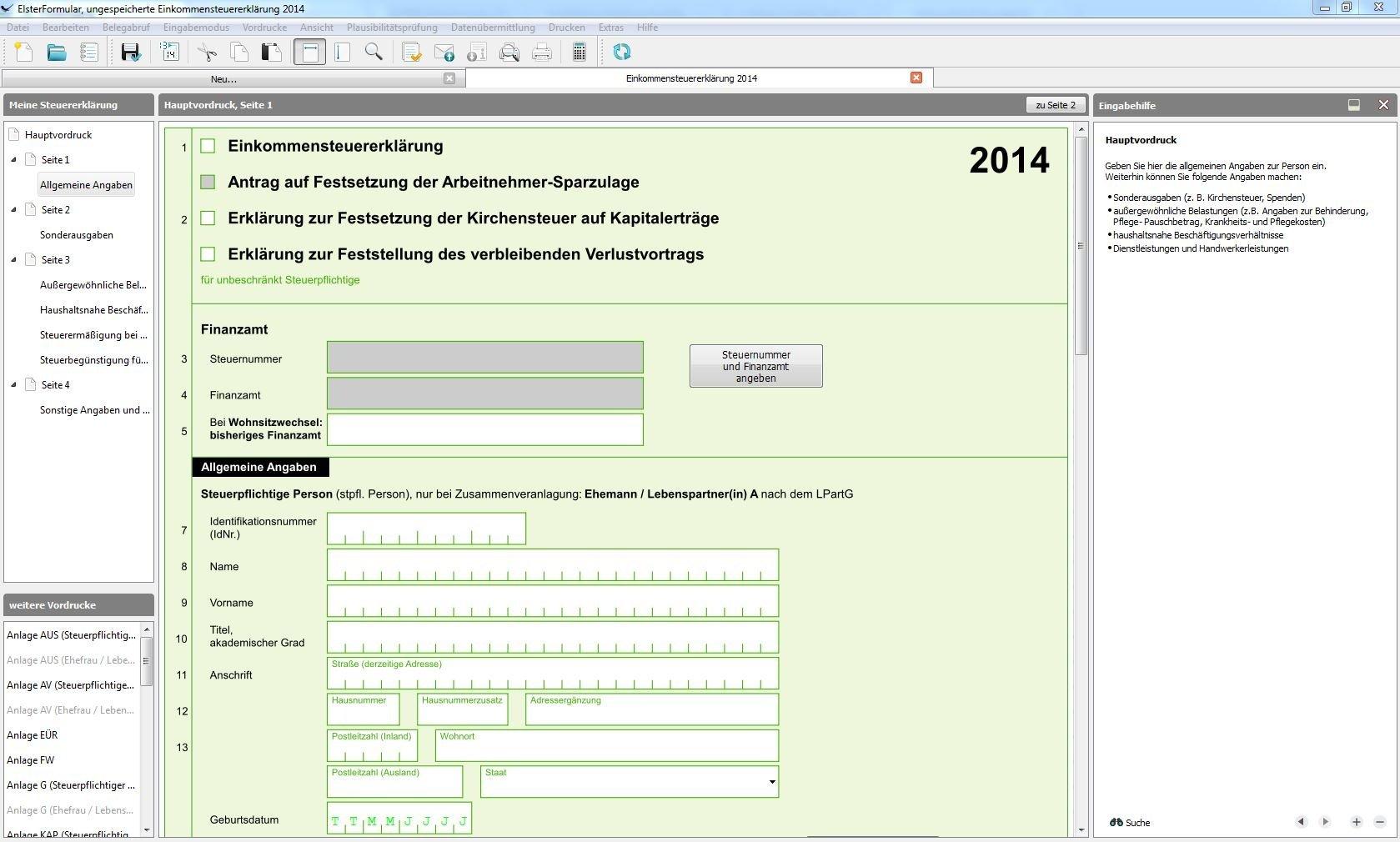 Mein ELSTER & ElsterFormular - Deutsche Steuererklärung ...