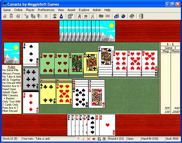 Canasta 2 Spieler