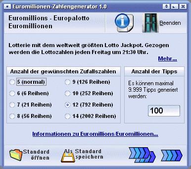 Zahlengenerator Lotto