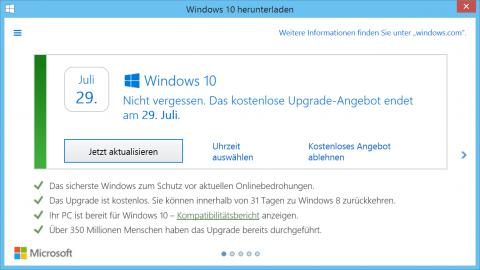 Windows 10 für Spätentschlossene